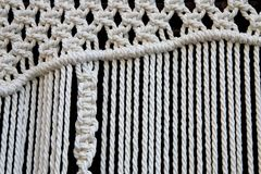 Macrame curtain detail Royalty Free Stock Image