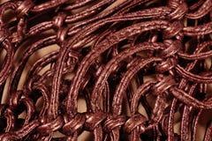 Macrame leather belts  close up Royalty Free Stock Photo