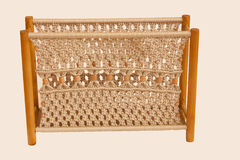 Macrame magazine rack Stock Photography