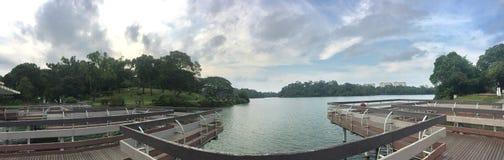 Macritchie rezerwuaru platforma na jeziorze 02 zdjęcia stock
