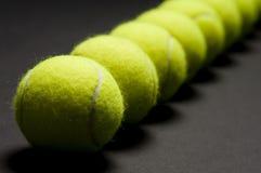 Macro 3 de las pelotas de tenis fotos de archivo