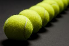 Macro 3 delle sfere di tennis fotografie stock