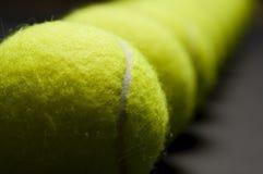 Macro 4 de las pelotas de tenis Imagenes de archivo