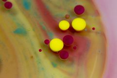 Abstract background ink and oil stock image