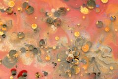 Free Macro Abstract Texture Background. Acrylic Color In Water And Oil Stock Photo - 216918390