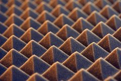 Acoustic foam panel background Royalty Free Stock Photos
