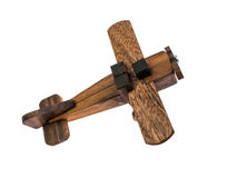 Macro airplane wood Stock Photos