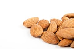 Macro almonds Stock Photography
