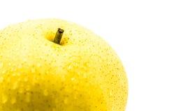 Macro amarilla mojada de la pera Imagenes de archivo