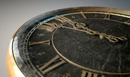 Macro Antique Watch Midnight Stock Photography