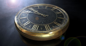 Macro Antique Watch Midnight Royalty Free Stock Photography