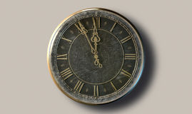 Macro Antique Watch Midnight Stock Photo