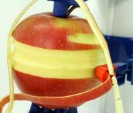 Macro apple peeling Royalty Free Stock Image