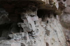 Macro of arenite structure in an old quarry Royalty Free Stock Photos
