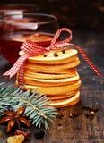 Macro Arranged Pancakes for Holiday Christmas Stock Photo