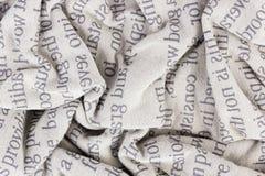Macro arrugada de la tela de algodón Fotografía de archivo