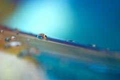 Macro astratta di acqua su un raggruppamento Immagini Stock