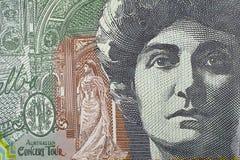 Macro Australian One Hundred Dollar Banknote Detail Stock Photo