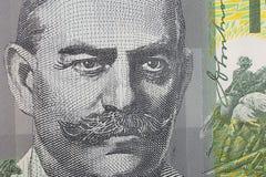 Macro Australian One Hundred Dollar Banknote Detail Stock Image