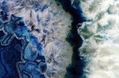 Macro azul de la geoda Foto de archivo libre de regalías