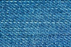 Macro azul del dril de algodón Imágenes de archivo libres de regalías