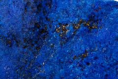 Macro Azurite mineral stone with Pyrite inserts on a white background. Close up stock image