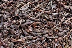 Dry Black Tea Macro Background Stock Image