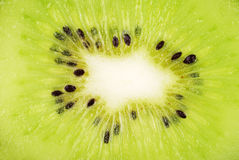 Macro background from kiwi slice Royalty Free Stock Photo