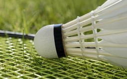 Macro badminton royalty free stock photography