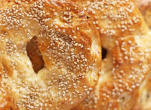 Macro bagel Stock Photo