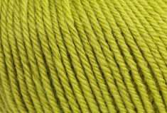 Macro ball of wool Royalty Free Stock Images