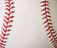 Macro baseball seams Royalty Free Stock Images