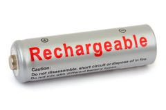 Macro of battery Royalty Free Stock Photos