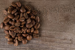 Macro beans black coffee, ready to brew delicious coffee Royalty Free Stock Photo