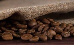Macro beans black coffee, ready to brew delicious coffee Stock Photo