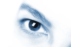Macro of beautiful man's eye Royalty Free Stock Images