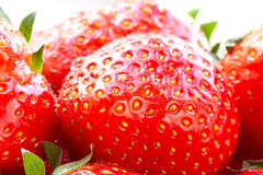 Macro of beautiful strawberries Royalty Free Stock Images