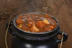 Macro beef stew Stock Image