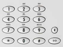 Macro beeld van een zwart-witte telefoonkeybo Stock Afbeelding