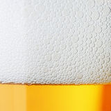 Macro beer with froth Stock Photo