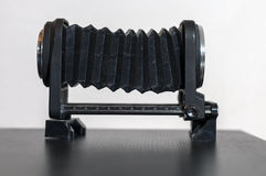 A macro bellows on a table stock photography