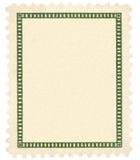 Macro in bianco di scenetta di verde del francobollo dell'annata Immagine Stock