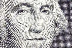 Macro Bill George Washington dólar americano foto de archivo libre de regalías