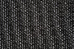 Macro of black canvas for backround or texture Stock Photography