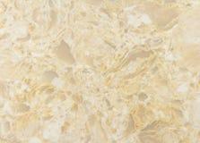 Macro blanc d'or de dalle de quartz Images libres de droits
