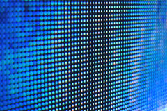 Macro bleu d'écran de LED Image libre de droits