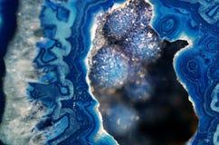 Macro bleu de géode Photos libres de droits