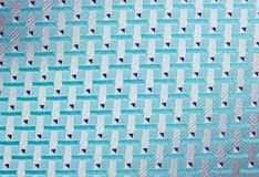 Multicolored closeup cotton cloth pattern Stock Photo