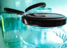 Macro blue jar Royalty Free Stock Photography