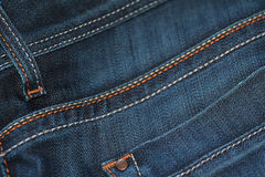 Macro blue jeans background. Closeup of Denim can be used as a background Stock Photo